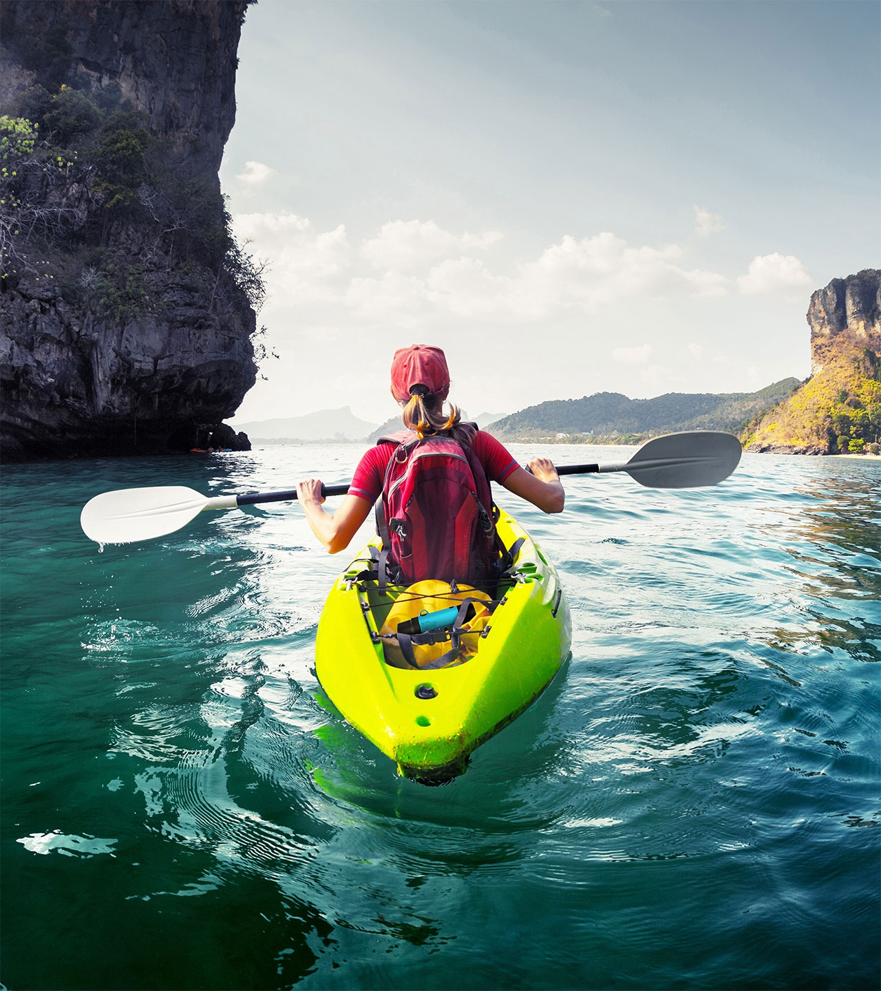 The Green Traveler during kayaking